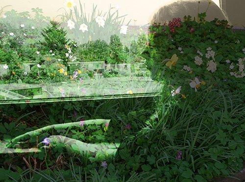 Hommage à Edouard Boubat. Ariane dans le jardin de Magdalena